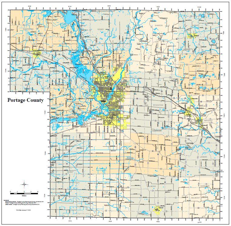 Park Trail Maps Portage County WI - Wi maps