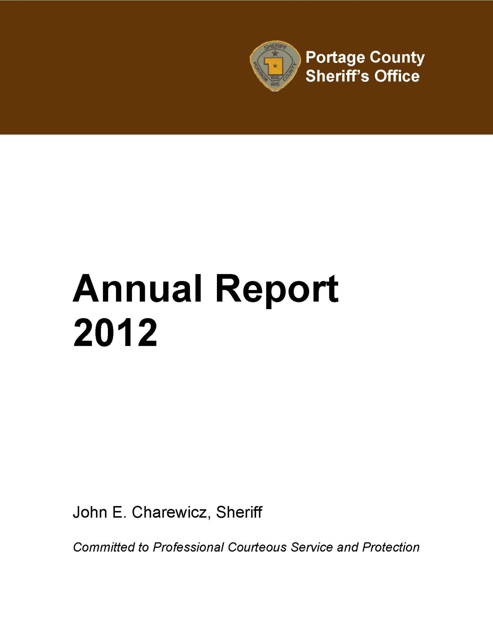 Annual Report 2012 Cover
