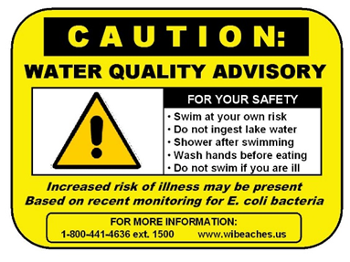 Caution Water Quality Advisory