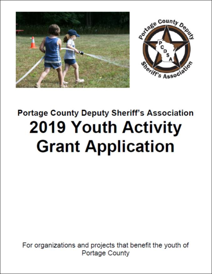 2019 PCDSA Youth Activity Grant Cover